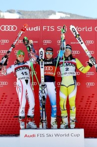 Podium shot in Beaver Creek 2011
